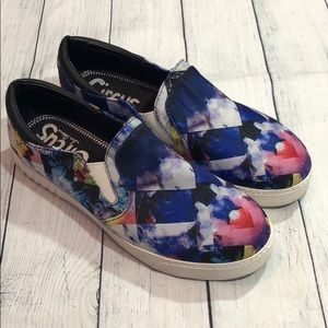 Circus by Sam Edelman Floral Watercolor Slip-Ons